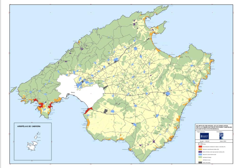 Zonificación Turistica en Baleares y el alquiler vacacional.