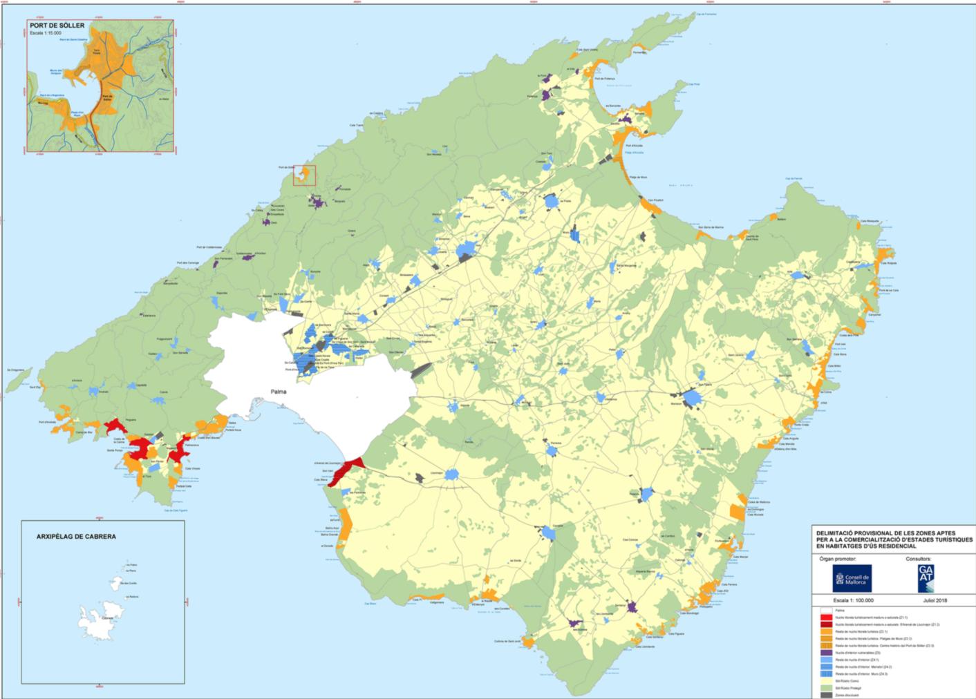 Zonas aptas para la comercialización turística en Mallorca [BOIB]